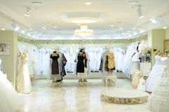 Interior of wedding fashion store Royalty Free Stock Images