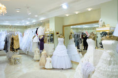 Interior of wedding fashion store Royalty Free Stock Photography