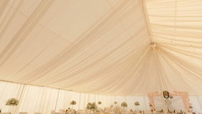 Interior of a wedding hall decoration ready for guests