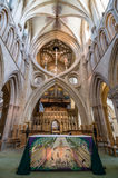 Interior of Wells Cathedral Stock Photography