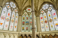 Interior of the Westminster Abbey, London Stock Photography