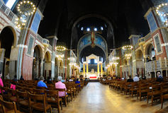 The interior of Westminster Cathedral Royalty Free Stock Photos