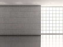 Interior whit wall and picture Royalty Free Stock Photo