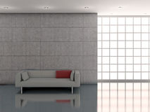 Interior whit wall and sofà Royalty Free Stock Photo