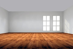 Interior whit wall and window Royalty Free Stock Photos