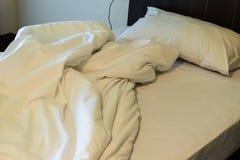Interior white bedroom Stock Photography