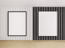 Interior with white and black frames Stock Image