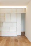 Interior, white bookcase Stock Photos