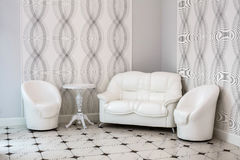 Interior in white colors. Royalty Free Stock Images