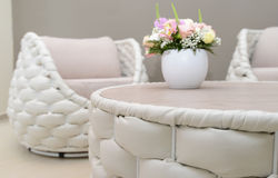 Interior in white Royalty Free Stock Image