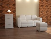 Interior with white furniture Stock Photography