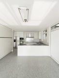 Interior, white kitchen Stock Photo