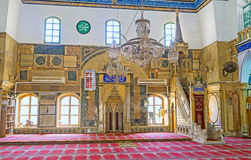 The interior of the White mosque Stock Photography