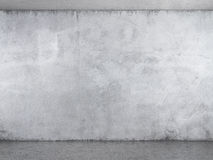 Interior with white plaster wall. With concrete floor Stock Photos