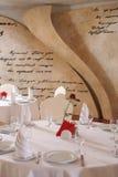 Interior white restaurant Stock Photo