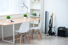 Interior of a white room Royalty Free Stock Image
