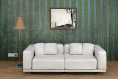 Interior white sofa Stock Images