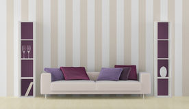 Interior with white sofa Stock Photography