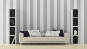 Interior with white sofa Royalty Free Stock Images