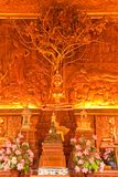 Interior of wholly teak wood church, Thailand Royalty Free Stock Images