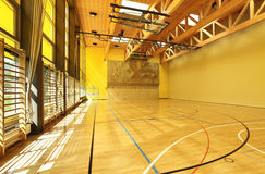 Interior wide gym Royalty Free Stock Image