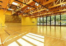 Interior wide gym Royalty Free Stock Photo