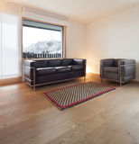Interior, wide living room Royalty Free Stock Photography