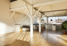 Interior wide loft Royalty Free Stock Image