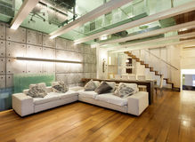 Interior, wide loft Royalty Free Stock Photo