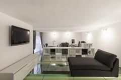 Interior, wide loft, studio Stock Photography