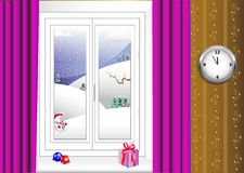 Interior with window. vector 10eps. Royalty Free Stock Image