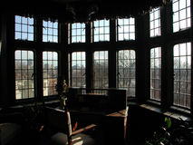 Interior windows. Of a room in Casa Loma Royalty Free Stock Image