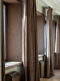 Interior with windows and curtains Royalty Free Stock Photography