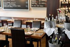 Interior of wine bar and restaurant Royalty Free Stock Photos