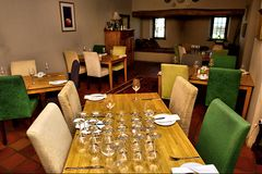 Interior of wine farm restaurant Stock Image