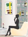 Interior - Wine Lounge Stock Photography