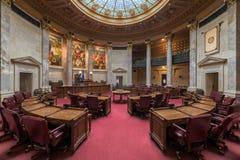 Interior of the Wisconsin Senate Chamber. Senate chamber in the Wisconsin State Capitol in Madison, Wisconsin royalty free stock photos