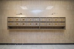 Free Interior With Mailboxes Royalty Free Stock Image - 112394176