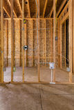 Interior wood frame construction electrical Stock Photo