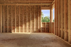 Interior wood frame construction Stock Photo