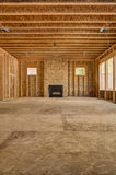 Interior wood frame construction new home Royalty Free Stock Image