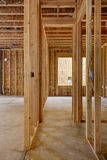 Interior wood frame, wood house construction Stock Photography