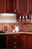 Interior wood kitchen Royalty Free Stock Image