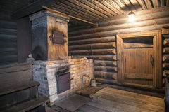 Interior of the wooden bath Royalty Free Stock Photography