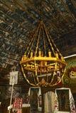 The Interior of a Wooden Church, Maramures, Romania royalty free stock photo