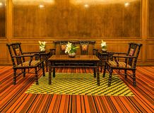 Interior with the wooden furniture Royalty Free Stock Images