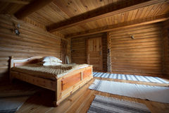 Interior of a wooden house Royalty Free Stock Photography
