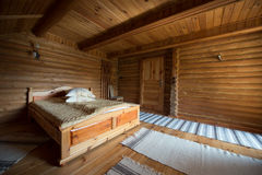 Interior of a wooden house Stock Photography