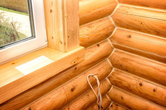 Interior of a wooden house Royalty Free Stock Photo
