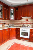 Interior of a wooden kitchen Royalty Free Stock Photo